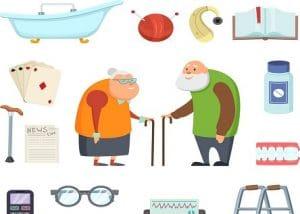 Garde de nuit d'une personne âgée dépendante